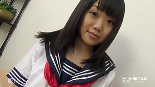 Asian honey, Natsuno Himawari is wearing say no to college uniform for ages c in depth getting smashed and fellating prick