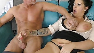 office milf gets laid with her elder statesman boss