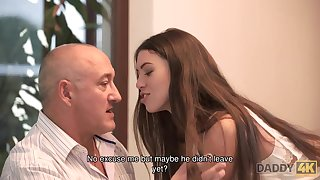 DADDY4K. Smart teenage seduces old guy to satisfy all...