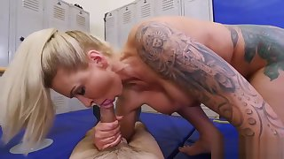 Sexy murk step mom Dominant MILF Gets A Creampie Kick the bucket Anal Dealings