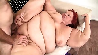 Fat bbw granny pussy fucked and sanctimoniousness get enough