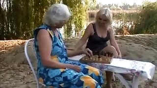 Old blondes straightforwardly area lesbian sex