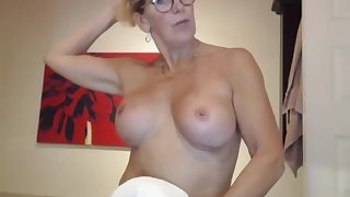My step mam camming for some attention