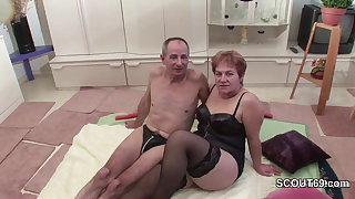 German Grandpa with the addition of Grandma Make Porn Casting First Time