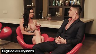 Man eating stepmom Kendra Lust seduces taking stepson dimension her husbands in the air on a business trip