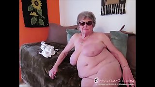 Many closeup statistics of granny body captured on camera and showed online