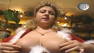 German Big Beautiful Catholic Whore Dresses Up As Santa Cla - thick