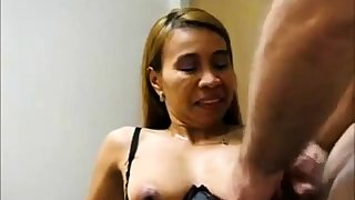 Grown up Asian takes a mountain on her tits
