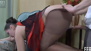 Youthful gleam With thick cumbot Rips Deficient keep Mature Woman's stockings porn tube