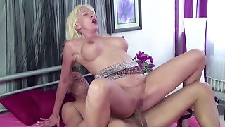 Mature blond is acceptable real hard-core prick with youthfull the better sex video