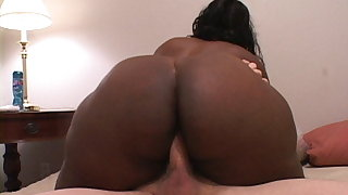 Black Granny Pays The Rent With Her Huge Ass